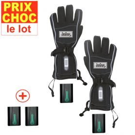Gants à pile + batteries