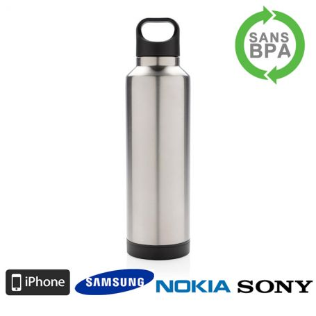 bouteille isotherme 500ml chargeur pour smarphones mug thermos. Black Bedroom Furniture Sets. Home Design Ideas