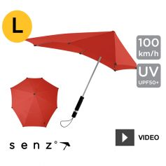 Parapluie anti-vent Senz - Large Rouge