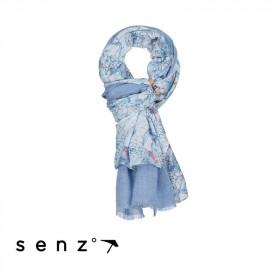 Duo écharpe Senz - Fleuri Bleu