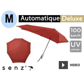 Parapluie anti-vent Senz - Deluxe Medium Rouge