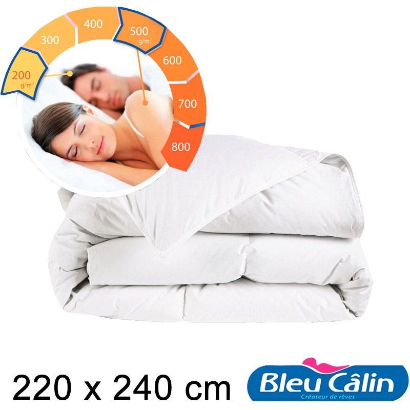 Bleu Câlin Couette couple double chaleur modulable 220x240cm