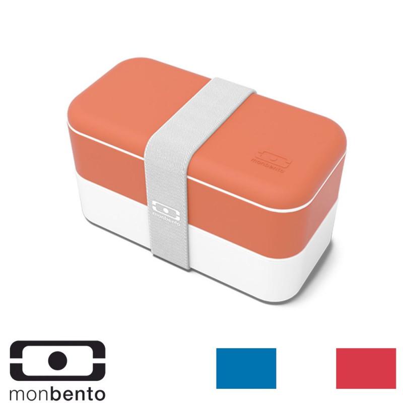 Boîte repas Bento 2 compartiments 1L - Brique