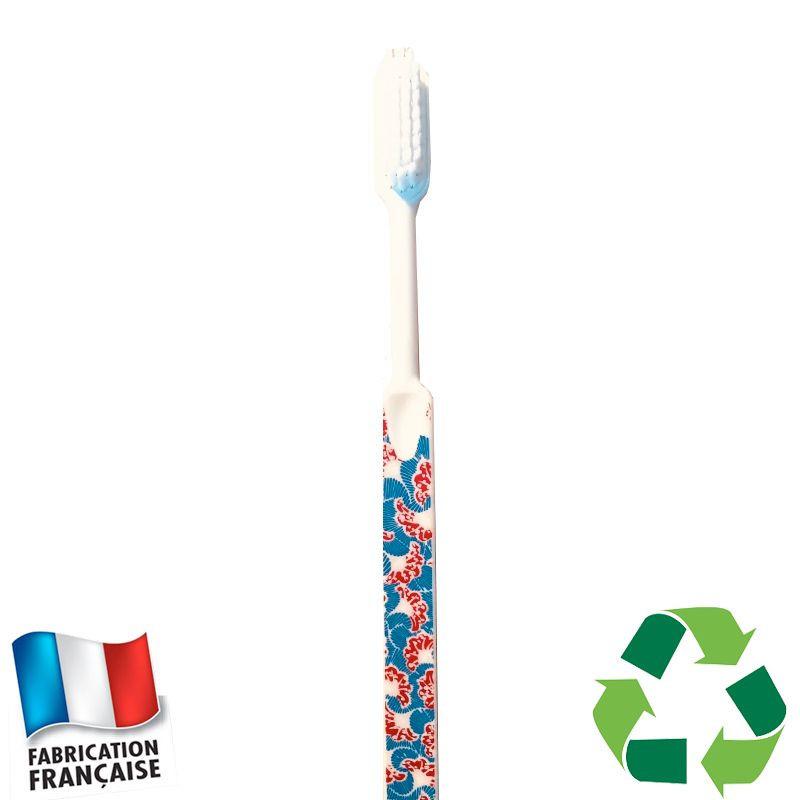 Brosse à dents écologique Caliquo - wax imprimé bleu