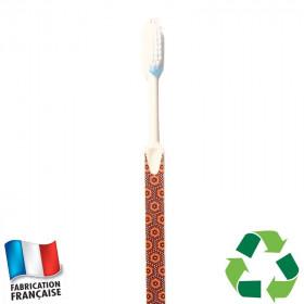 Brosse à dents écologique Caliquo - wax imprimé rouge