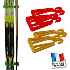 Porte-skis Klipski rouge et jaune