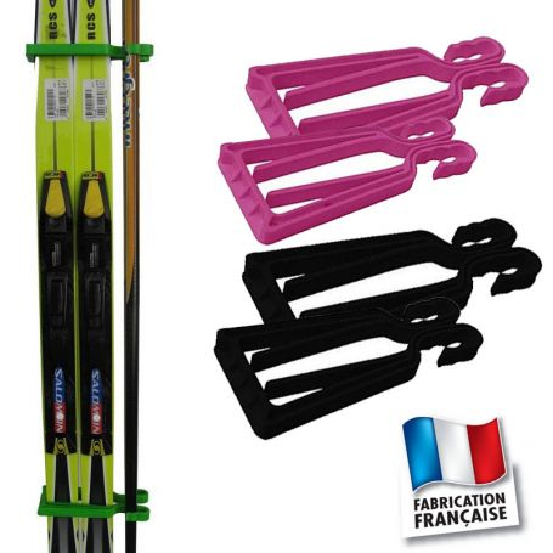 Porte-skis Klipski rose et noir