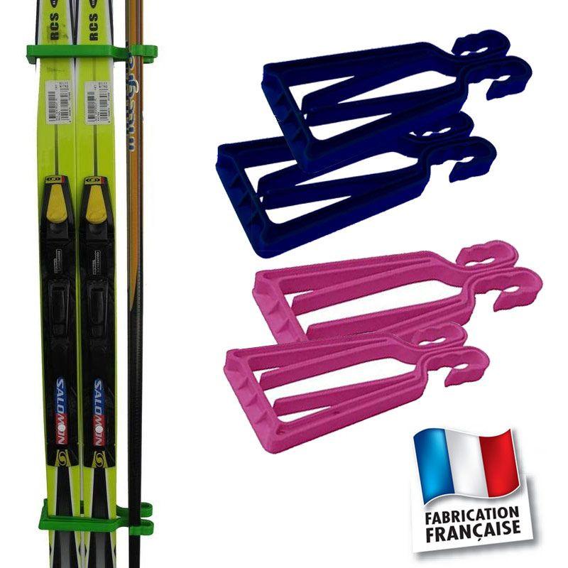 Porte-skis Klipski bleu et rose