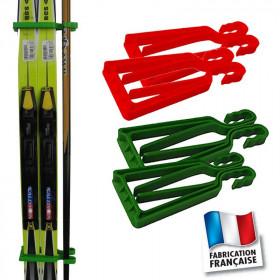 Porte-skis Klipski vert et rouge