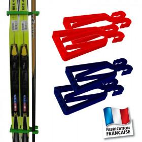 Porte-skis Klipski rouge et bleu