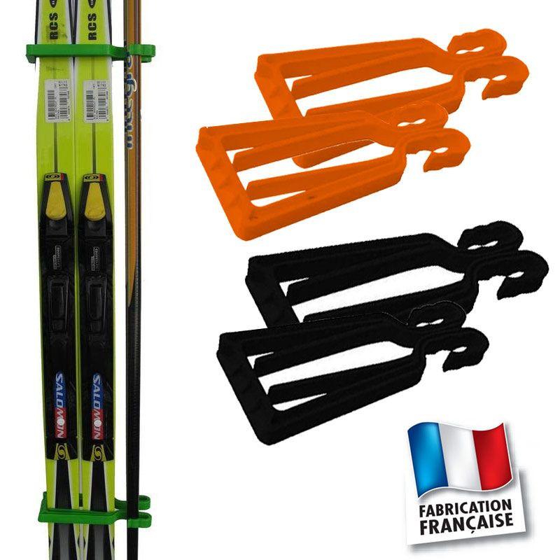 Porte-skis Klipski noir et rouge