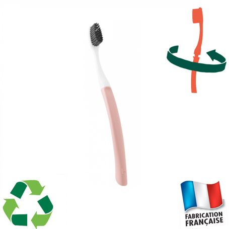 Brosse à dents à tête interchangeable rose