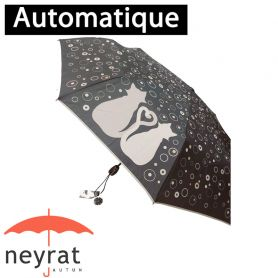 Parapluie pliant mini Chat gris