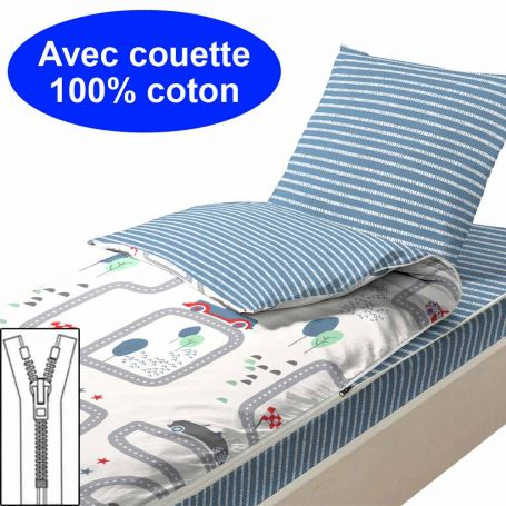 Couchage avec couette 90x140 Playground