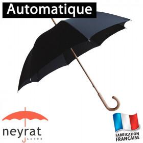 Parapluie long automatique uni noir