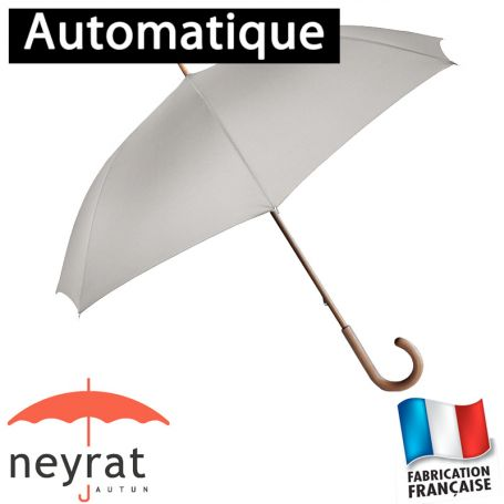 Parapluie long automatique uni gris