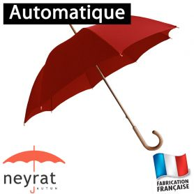 Parapluie long uni rouge