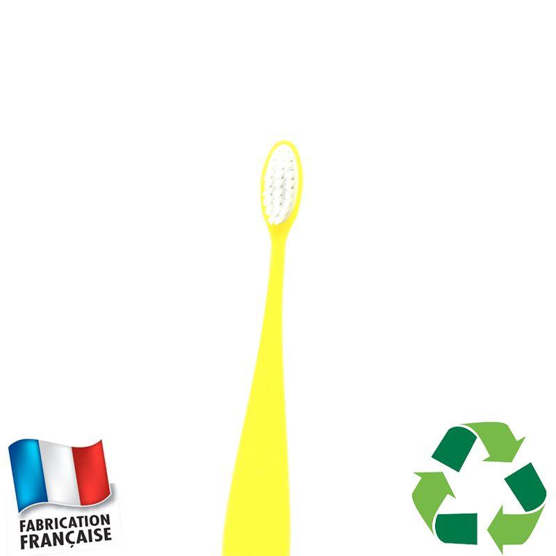 Brosse à dents bioplastique enfant jaune