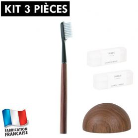 Kit brosse à dents durable noyer