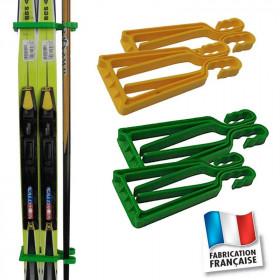 Porte-skis Klipski jaune et vert