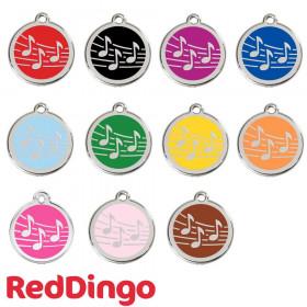 Médaille chien personnalisable musique