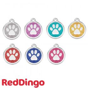 Médaille chien personnalisable Paillette Pattes