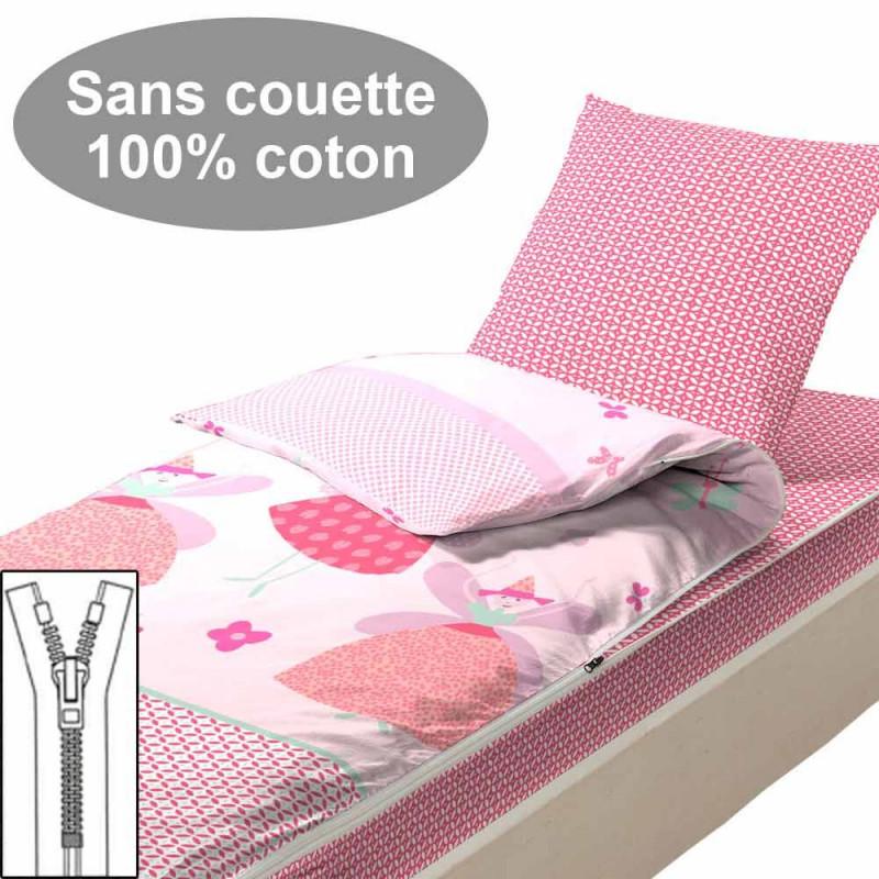Couchage sans couette 90x190 Faustine