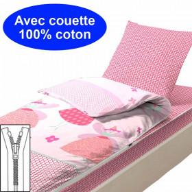 Couchage avec couette 90x190 Faustine