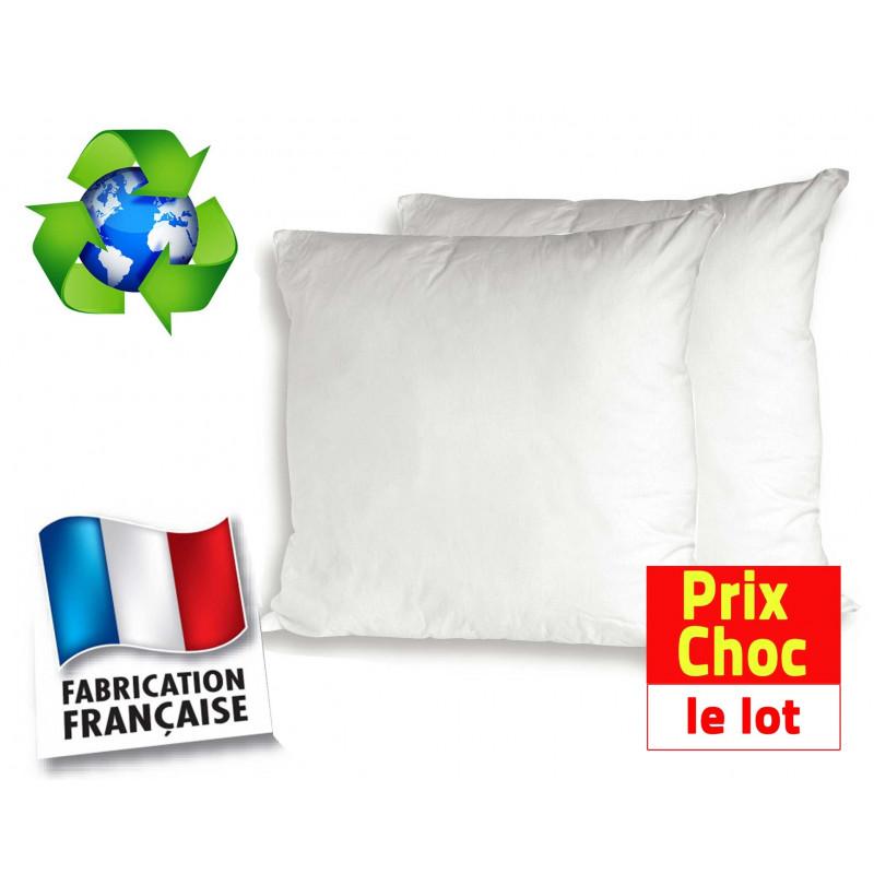 Lot promo 2 oreillers écologiques Bleu Câlin