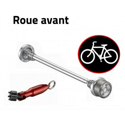 Antivol vélo pour roues de vélo - roue avant