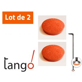 Lot de 2 patins pour canne de marche Tango - orange