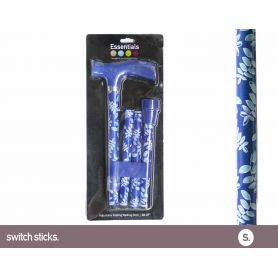 Canne pliante fantaisie - Couleurs Switch Sticks - Turquoise