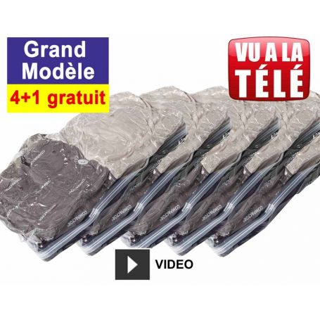 Lot de 5 sachets de compression grand modèle - 4+1 gratuit