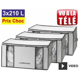 Lot promo de 3 housses Compactor 210 Litres