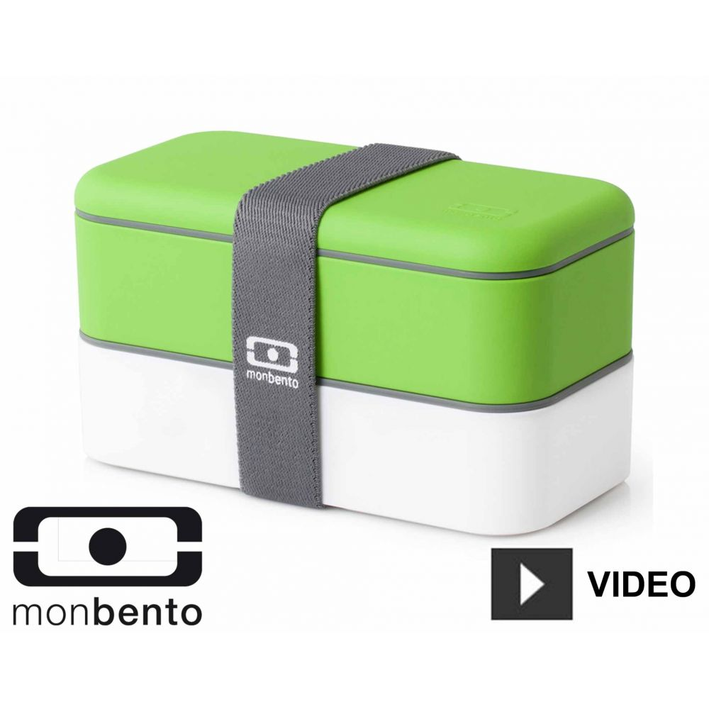 bo te repas bento duo 1l lunch box boite alimentaire 2 compartiments vert. Black Bedroom Furniture Sets. Home Design Ideas