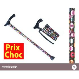 Canne pliante de marche fantaisie - Switch Sticks Bulles