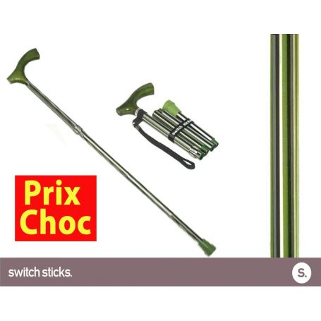 Canne pliante de marche fantaisie - Switch Sticks Colonel
