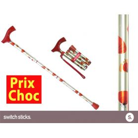 Canne pliante de marche fantaisie - Switch Sticks Coquelicots