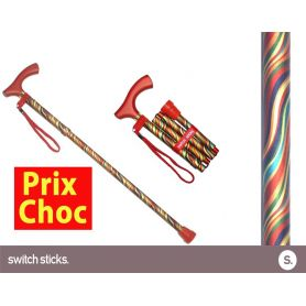 Canne pliante de marche fantaisie - Switch Sticks Carnaval