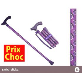 Canne pliante de marche fantaisie - Switch Sticks Viking