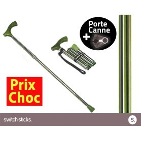 Canne pliante de marche Switch Sticks Colonel + Porte canne