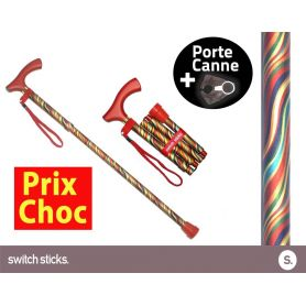 Canne pliante de marche Switch Sticks Carnaval + Porte canne