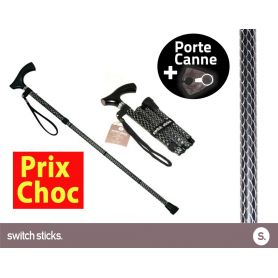 Canne pliante de marche Switch Sticks Soirée + Porte canne