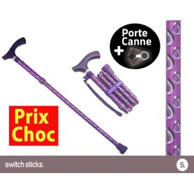 Canne pliante de marche Switch Sticks Viking + Porte canne