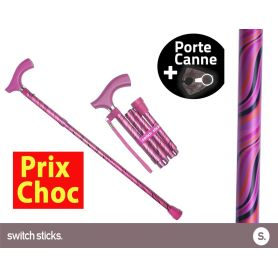 Canne pliante de marche Switch Sticks Tango + Porte canne