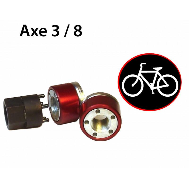 Antivol vélo pour roues de vélo - Ecrou 3/8