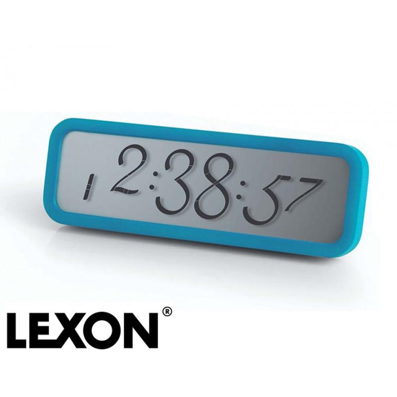 Réveil chiffres cursifs bleu