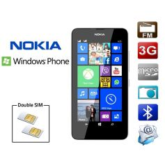 Smartphone double SIM Windows Nokia Lumia 630 - Blanc