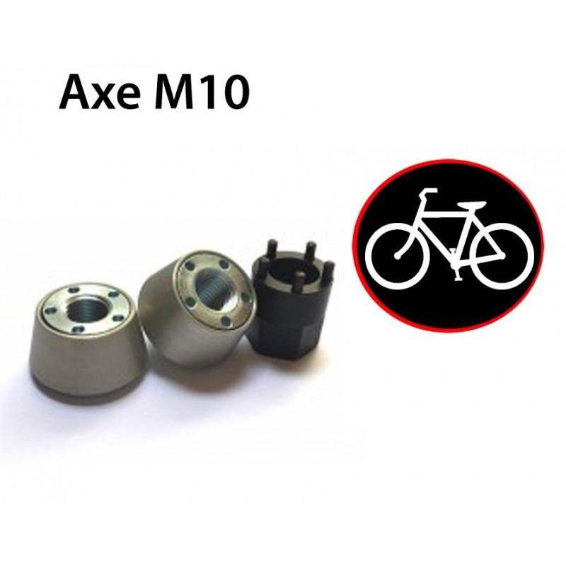 Antivol vélo pour roues de vélo - Ecrou M10