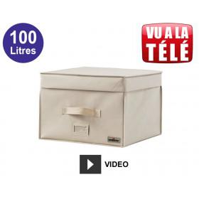Compactor coffre gain de place sous vide 100L - Beige